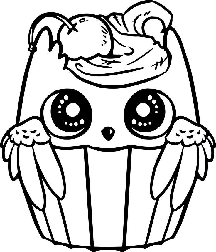 Cute Owl Bird Cupcake Chibi transparent image