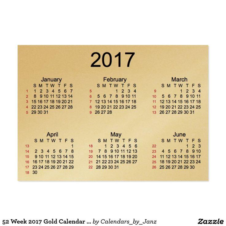 52 week 2017 gold calendar by janz business cards av best deals 52 week 2017 gold calendar by janz business cards av best deals business to business pinterest business cards colourmoves