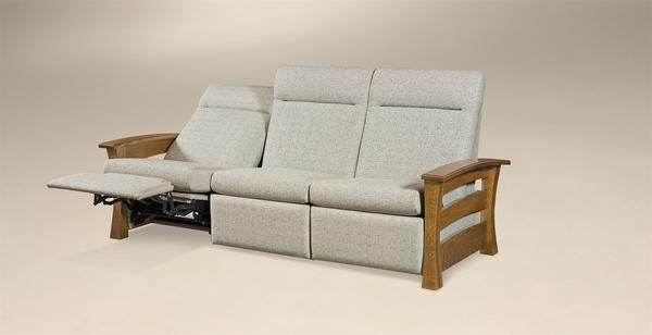 Amish Barrington Wall Hugger Reclining Sofa | Reclining sofa