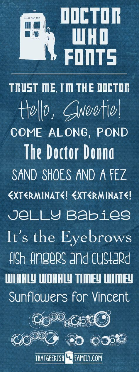 FREE DOCTOR WHO FONTS! – Bettina Bier