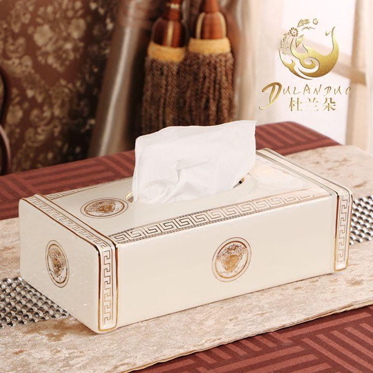 Caixas de tecido criativo sala de estar de estilo europa tipo de decoração de mesa caixa de tecido de cerâmica(China (Mainland))