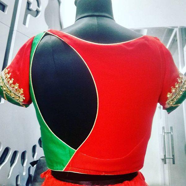 30 Latest Blouse Back Neck Designs – 2017