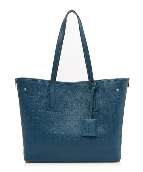 e4d11d85872cd LIBERTY LONDON Little Marlborough Tote Bag in Iphis Embossed Leather