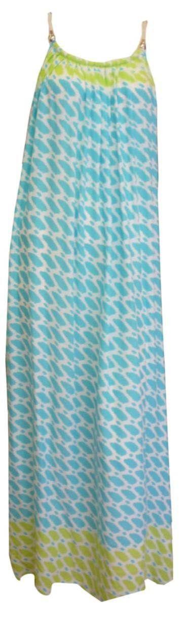 Blue and line Maxi Dress www.resortwear.co.nz