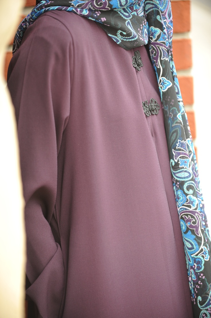 Lovely colors Aubergine Abaya