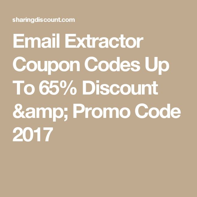 Email Extractor Coupon Codes Up To 65% Discount & Promo Code 2017