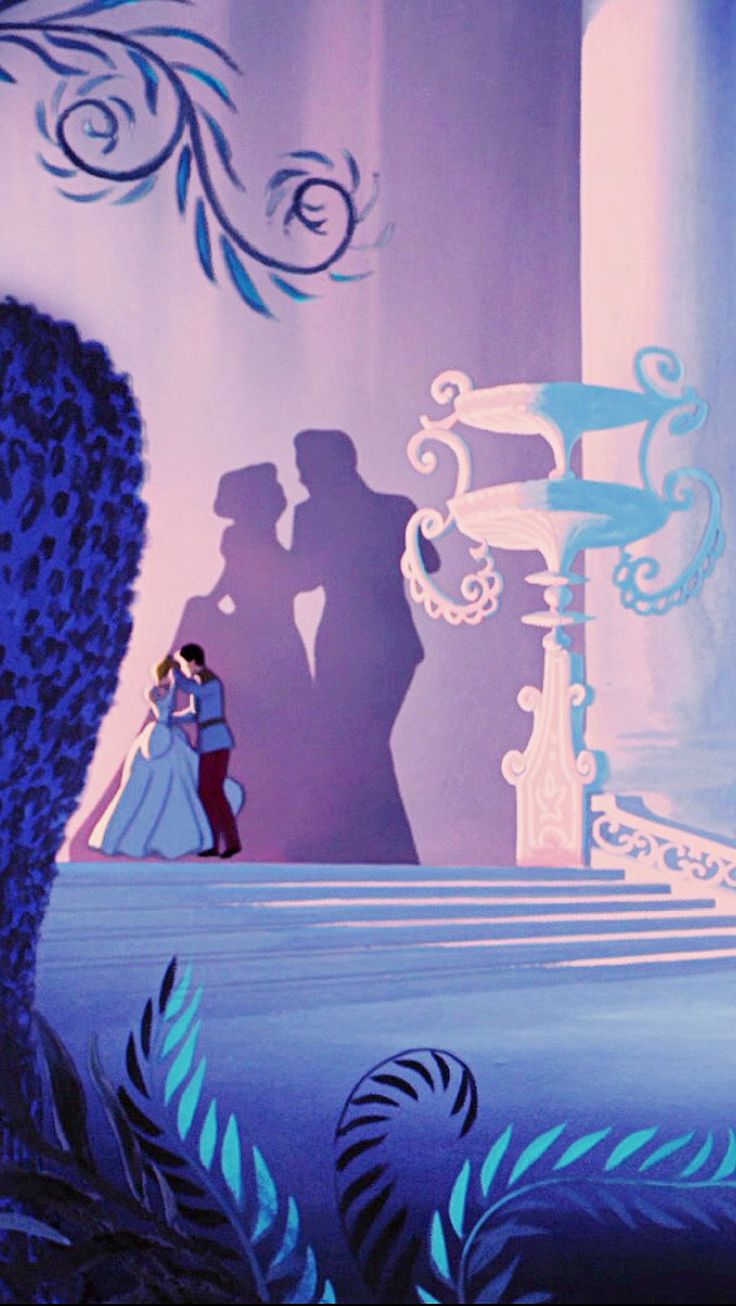 Cinderella: we do realize that the shadow behind prince charming and Cinderella is not there shadows right? You can tell not only because the shadow is holding on to her gown where Cinderella is holding the Prince's hand. The other is that they are positioned they should not be shadowed themselves.