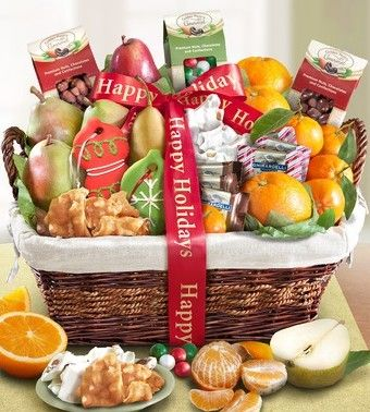 Holiday Gathering Fruit & Sweets Basket from 1-800-Baskets.com.  This holiday give friends and family a delightful feast to gather around full of premium fruits picked fresh from California Orchards that's thoughtfully paired with deliciously crafted delectables and presented in classic woven willow basket.  Get your rebate from RebateGiant.