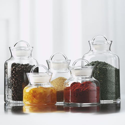 glass containers with handles opus storage jars u2014 offer ideal airtight elegant storage with glass - Kitchen Storage Containers
