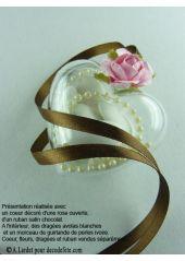 1 Coeur transparent 6cm