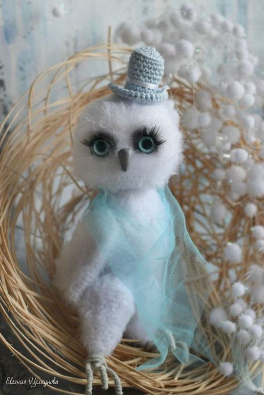 Owl plush amigurumi toy crochet owl toy plush owl crochet toy