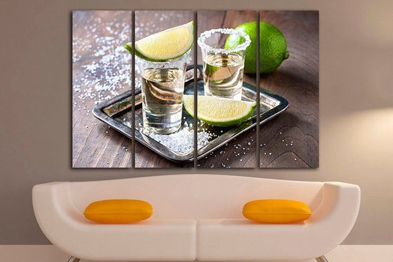 Tequila print Alcohol print Tequila wall art Bar wall decor Kitchen print Tequila shot decor Mexican