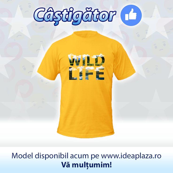 """Noul model de tricou: """"Wild Life"""" ales prin vot de voi a fost adaugat in cadrul site-ului Ideaplaza.ro si se poate vedea aici:  https://goo.gl/XUaDpn   #tricou #tricoupersonalizat #tricouripersonalizate #wildlife #ideaplaza"""
