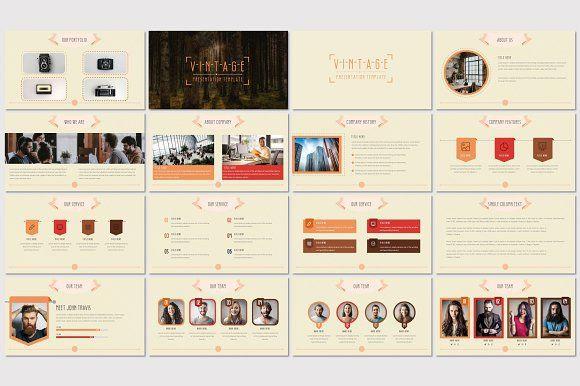 Vintage Powerpoint Template Presentations Pinterest