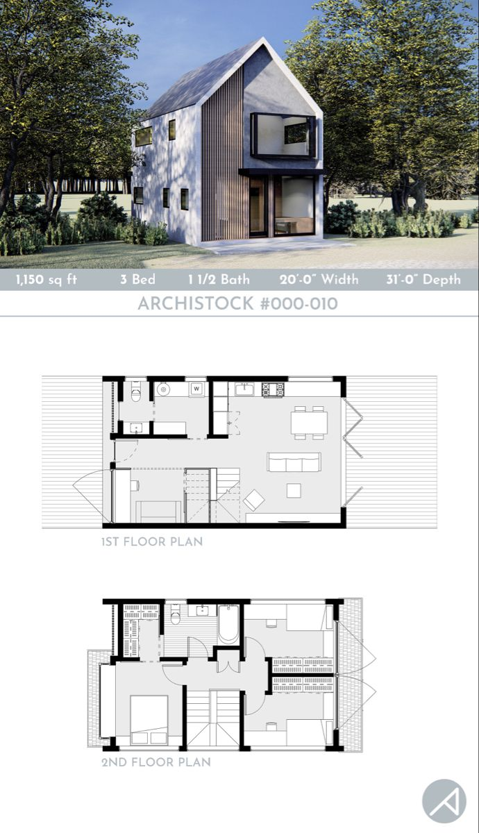 3 Bedroom Compact Small House Plan 20 X 30 Footprint Small House Plan Modern House Plans House Plans