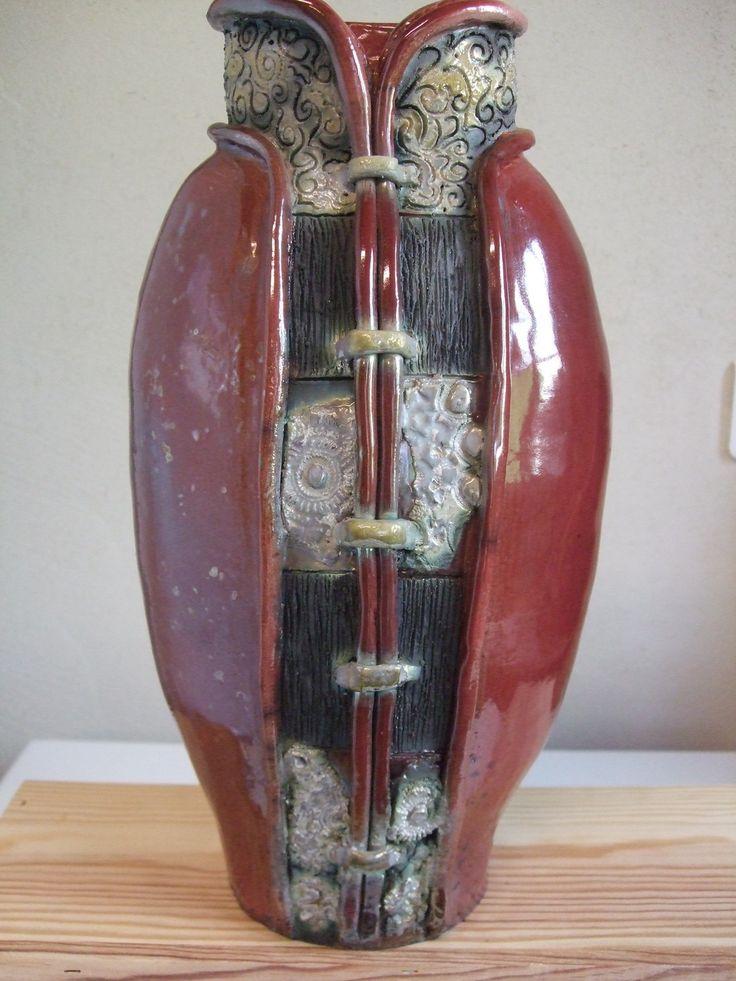 Poterie en Raku lie de vin , enfumage et nitrate d'argent : Art céramique par custom-ben-art
