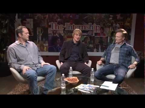 Google Play presents: Vince Vaughn and Owen Wilson debut The Internship trailer, with Conan O'Brien