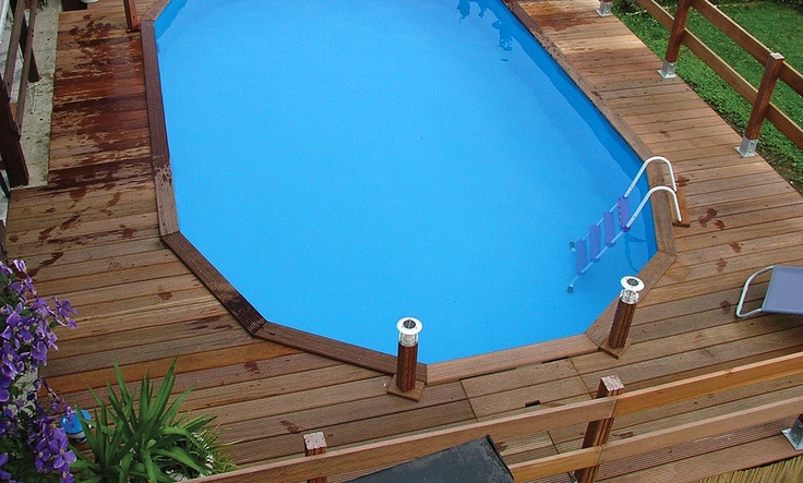 8 best images about piscinas desmontables above ground for Piscinas de madera