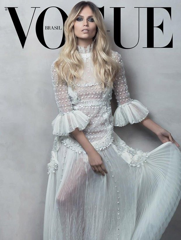 Natasha Poly by Jacques Dequeker for Vogue Brazil February 2015 valentino haute couture