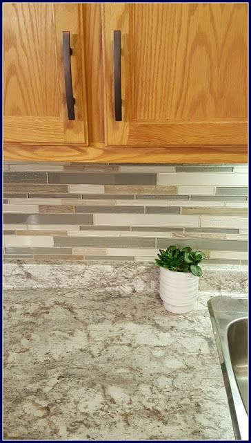 MamaEatsClean: Typhoon Bordeaux Laminate -  A Honey Oak Kitchen with White Appliances - A 4 Day $1,000 Transformation