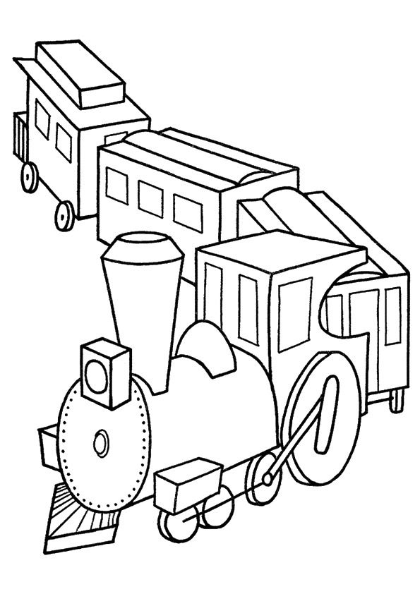 Coloring Page In 2020 Train Coloring Pages Coloring Books Christmas Coloring Pages