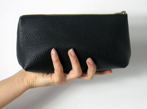 LEATHER POUCH Pouch Leather Leather Clutch Leather Toiletry