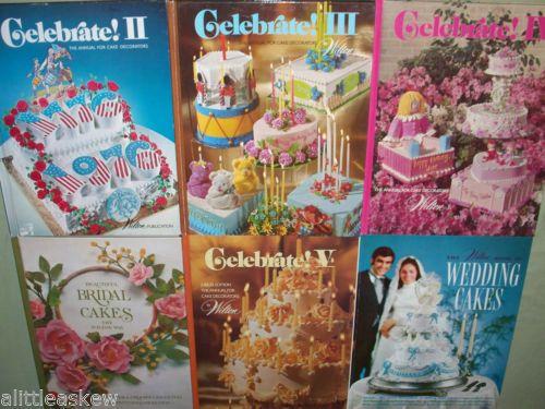 Lot 6 WILTON WAY Cake Decorating HC Books CELEBRATE Annual Bridal Wedding Cakes