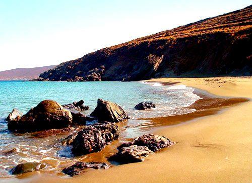 Paros island Aliki / Faraggas beach Sailing in the CYCLADES
