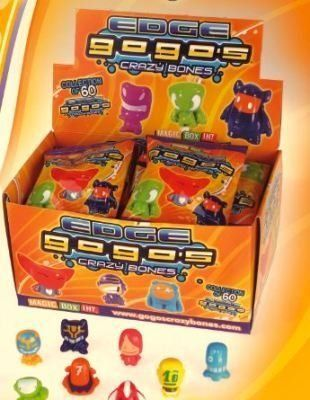 Crazy Bones Gogos Series 7 Edge Booster Pack 3 Gogos by Magic Box Int.. $5.99. Gogos Crazy Bones  Edge Series 7 (1 Pack) The lasted Edtion of Gogos for 2012 Product Details    Gogos Crazy Bones  Edge Series 7 (1 Pack)    Each Pack Contains 3 Gogos and Check List