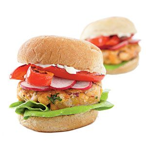 Middle East chickpea burger