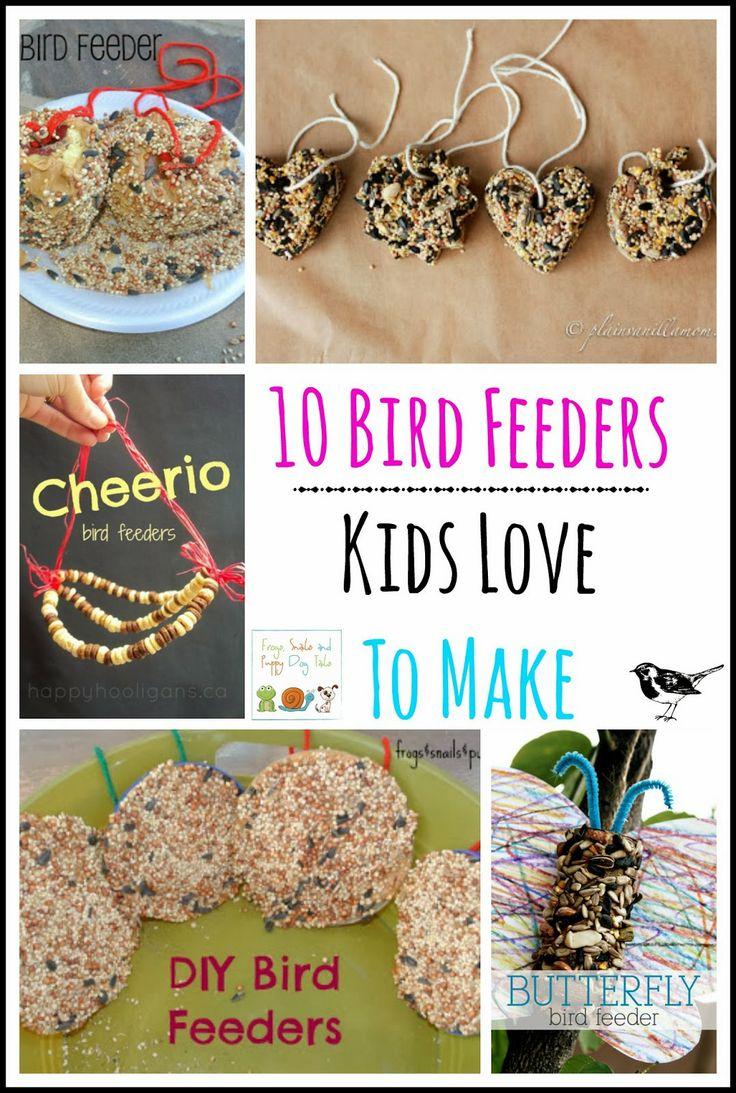 10 Bird Feeders Kids Love To Make by FSPDT DIY bird feeders for kids