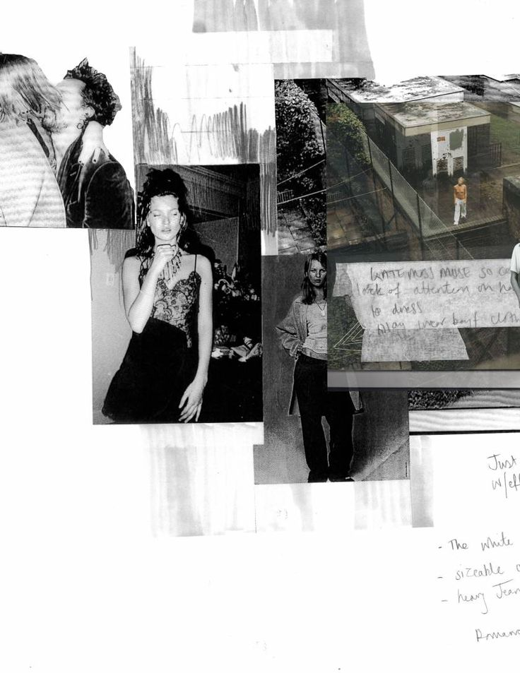 Fashion Sketchbook - fashion design inspired by Kate Moss; fashion student portfolio // Lauren Hunt