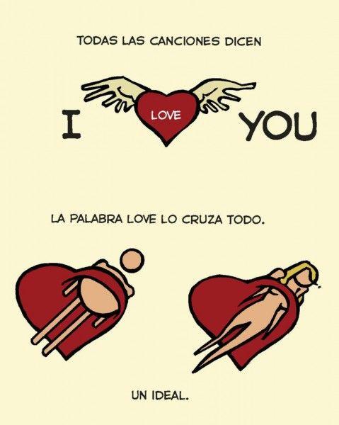 Nunca se había hablado tanto de amor. Que si te quiero, que si no me quieres. el contrato sentimental ahora sustituye al contrato matrimonial. Todas las canciones dicen I love you