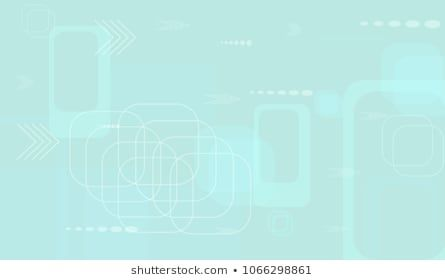 Tech Pattern. Light Horizontal Technology Background with Frames, Squares, Dots, Arrows and Lines. Modern Abstract Texture for Web, Applications, Wall…