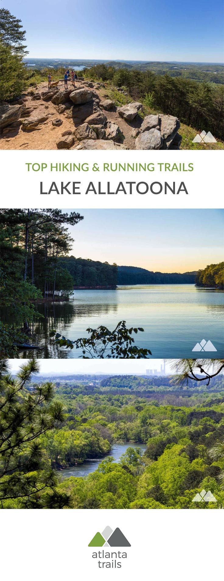 Find an outdoor adventure near Lake Allatoona! Hike to gorgeous Allatoona vistas from the lake's meandering shore. Catch stunning views of the Atlanta skyline from a nearby mountaintop. Or climb to beautiful views of the Etowah River valley.