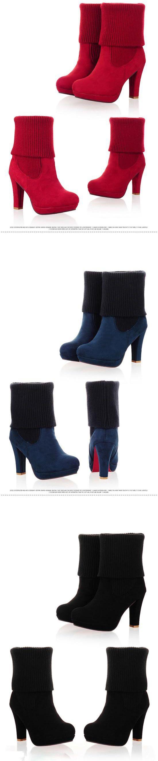 Осенние туфли на платформе высокие каблуки ботильоны для женщин Большой размер 34 43 женская мода осень сапоги красные нижние высокие каблуки зимние сапогикупить в магазине Kangston InternationalнаAliExpress