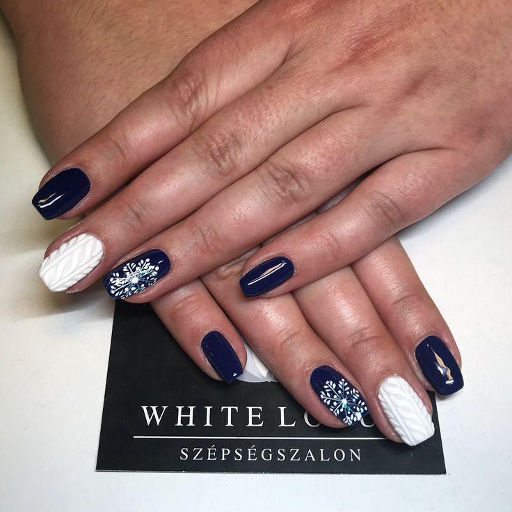 Snowflake ❄️ Bluenails 💙💙💙 ➡️Instagram: anett.volcz
