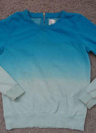 Kup mój przedmiot na #vintedpl http://www.vinted.pl/damska-odziez/bluzy/17837770-niebieska-bluza-ombre-36-diy-3638