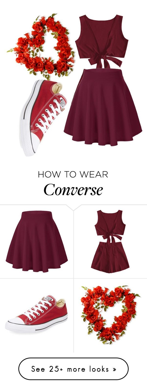"""""""Red Love"""" by eigthnote on Polyvore featuring Converse"""