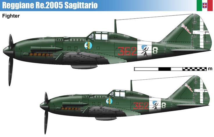 Reggiane RE 2005 Sagittario (1943) http://www.wardrawings.be/WW2/Files/Site.htm