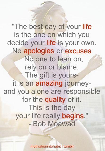 Talk the talk ~ walk the walk.  Inspiring quote!