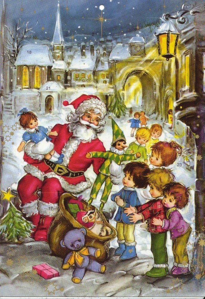 lterer adventskalender weihnachtsmann geschenke kinder winterliche stadt top christmas. Black Bedroom Furniture Sets. Home Design Ideas