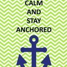 Anchor quotes for a nautical theme classroom. Navy and lime color scheme.   Random quotes found on pinterest designed to fit my nautical theme clas...