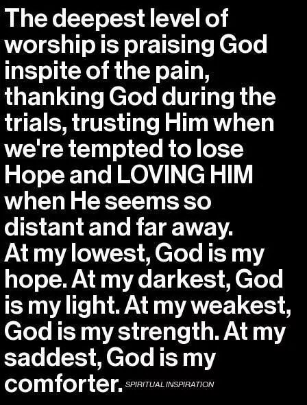 I am nothing without Him in my life!