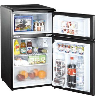 Dorm Room Storage - Midea College Fridge with Freezer - 3.1 Cu Ft College Essential on Wanelo