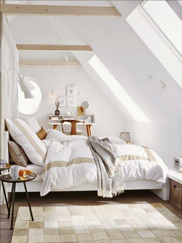 Einrichtungsideen schlafzimmer mit dachschräge  14 besten Schlafzimmer Bilder auf Pinterest | Haus, Wohnen und ...