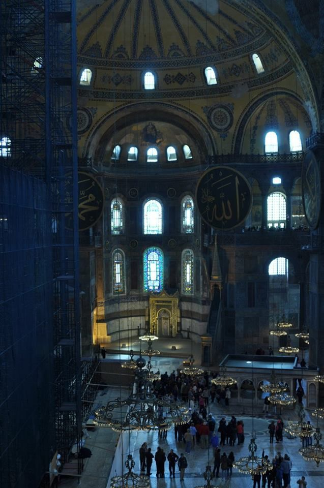 Inside the Ayasofya in Istanbul.