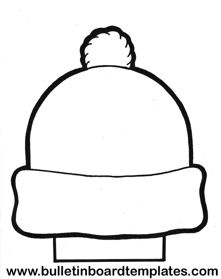 winter hat coloring page - Pesquisa Google