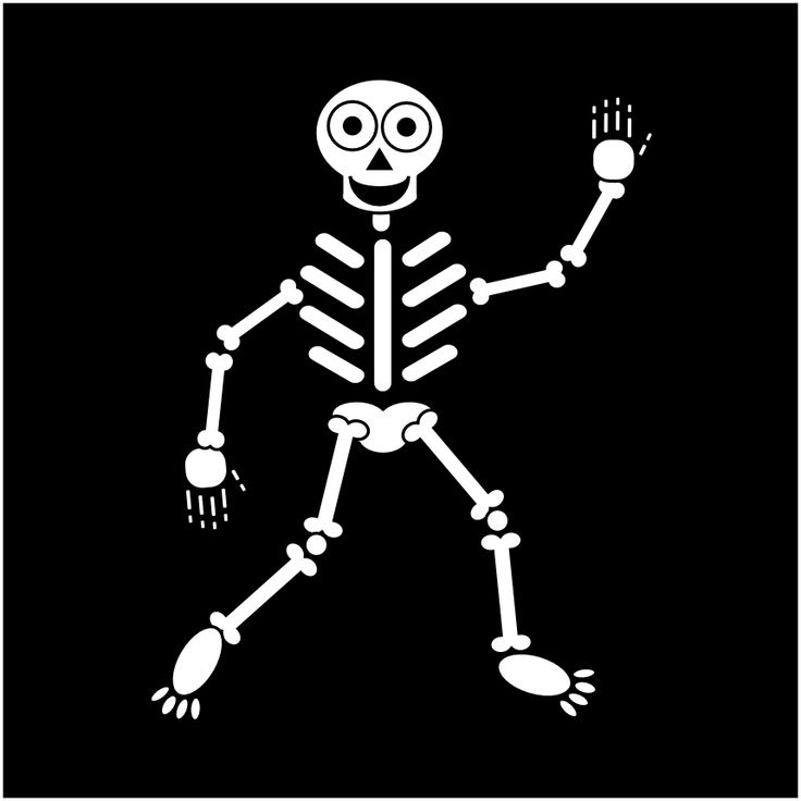 Skeleton template for rubber stamping and other craft projects. Description from…