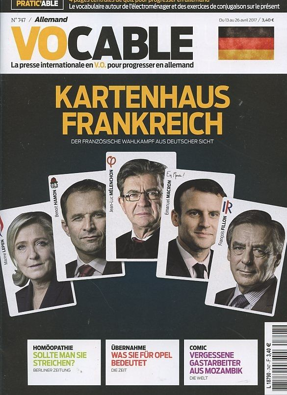 Vocable allemand N° 747 13 avril 2017 Allemand, 13